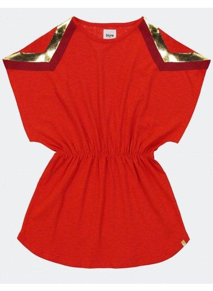 Blune PRINTED COTTON JERSEY DRESS - STRAWBERRY