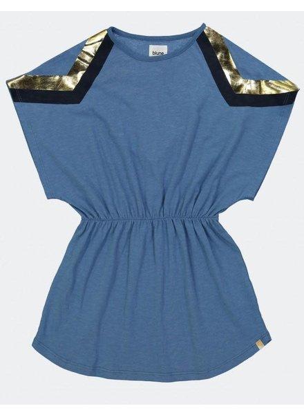 Blune Printed Cotton Jersey Dress - Stone
