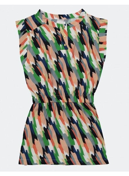 Blune Printed Viscose Dress - Nacy/Multicolore