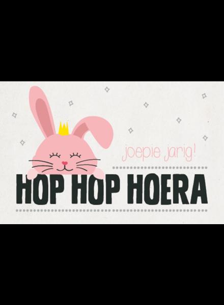 Leuke kaartjes Hop hop hoera