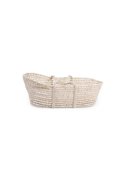 Childhome Moses basket soft corn husk natural + mattress