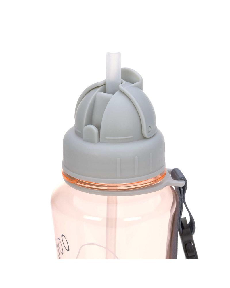Lässig Drinking Bottle Spooky Peach with straw lid