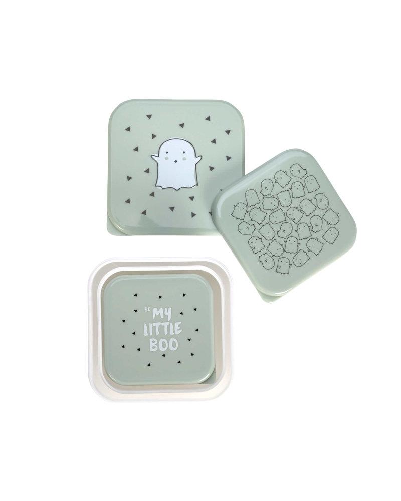 Lässig Snackbox 3pcs Assorted Little Spookies - Olive