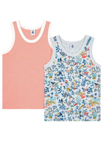 Petit Bateau Set van 2 onderhemdjes - Tropic