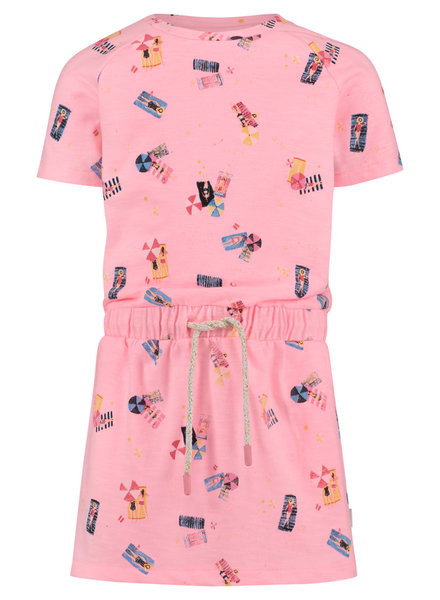 Noppies Dress ss Roanoke aop - Soft Pink Neon