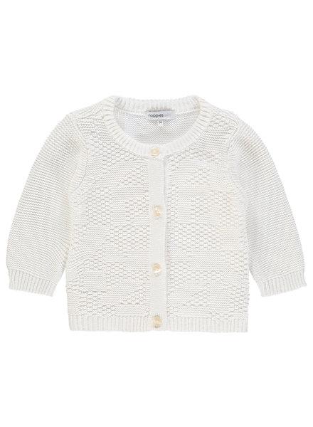 Noppies Cardigan purl ls Paramus - Blanc de Blanc