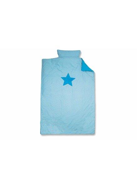 BeMini Dekbedovertrek blauw/ster