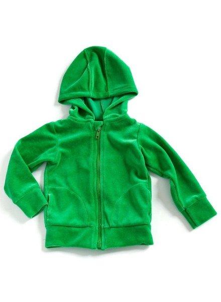 Mundo Melocoton Hoodie velours groen