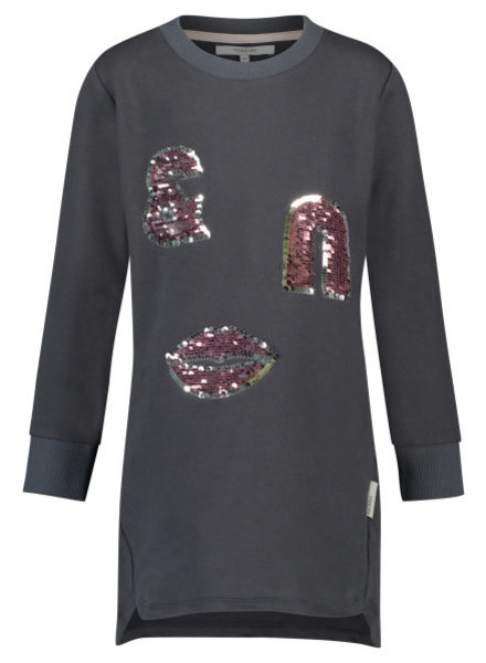 Noppies Dress sweat Whitehall - Charcoal