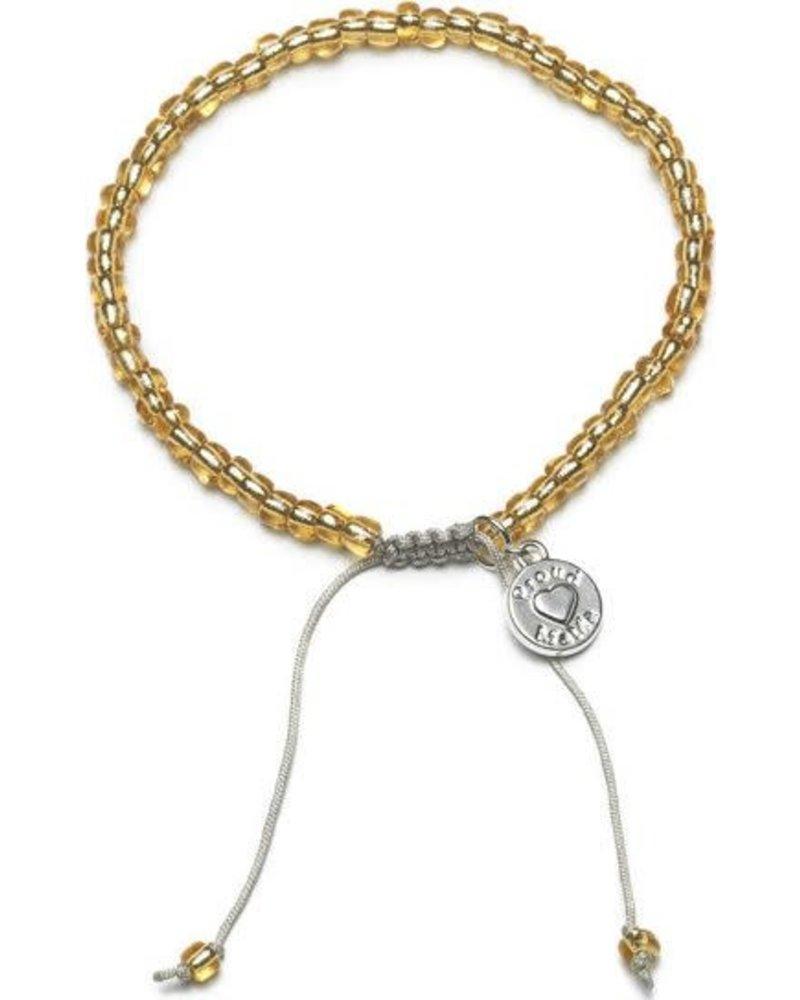 Proud Mama Armband beads goud