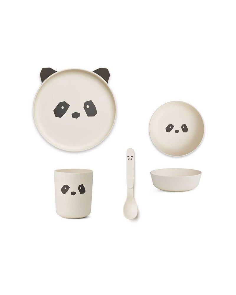 Liewood Bamboo box set - Panda Creme de la creme