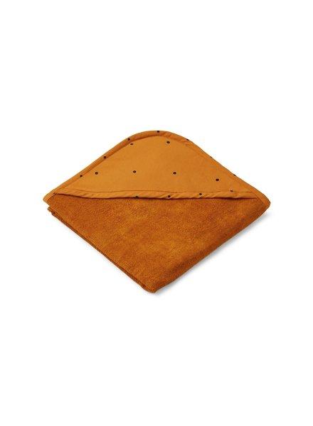Liewood Winnie hooded towel - Classic dot Mustard