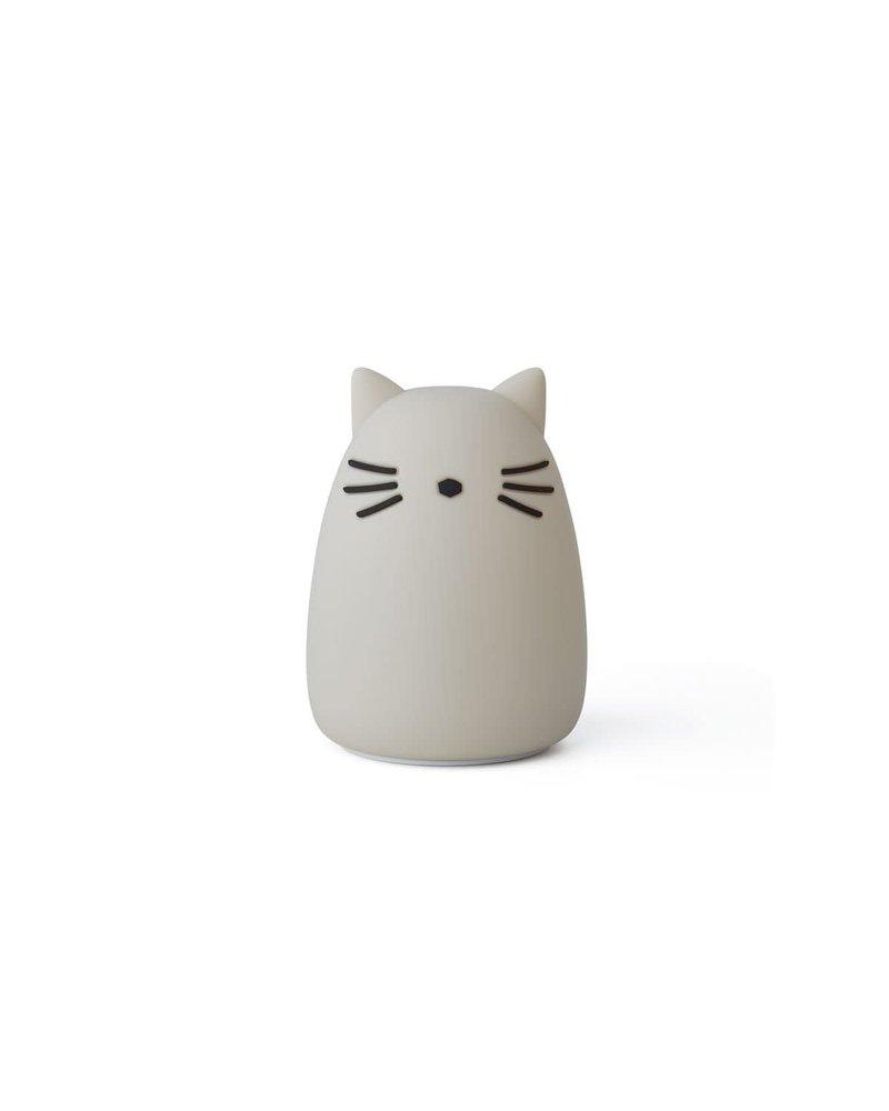 Liewood Winston night light - Cat dumbo grey