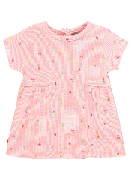 Noppies Dress ss Sterling aop - Impatiens Pink