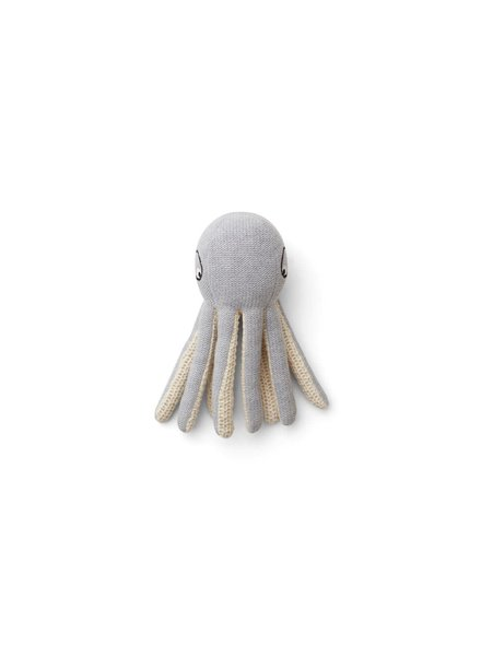Liewood Ole Knit Mini Teddy - Octopus Grey Melange