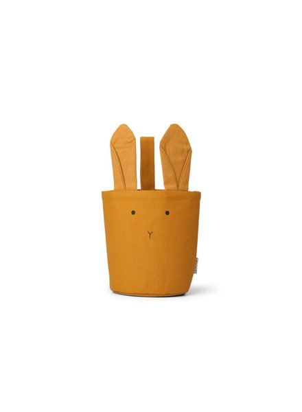 Liewood Ib Fabric Basket - Rabbit Mustard