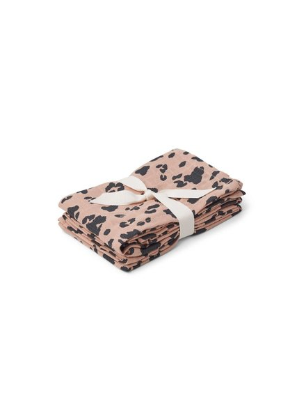 Liewood Hannah Muslin Cloth - 2 Pack - Leo Rose