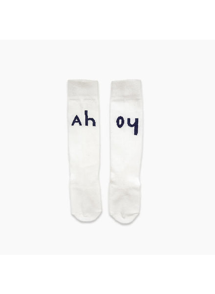 Sproet & Sprout High Socks Ahoy Off-white - maat 6/12M