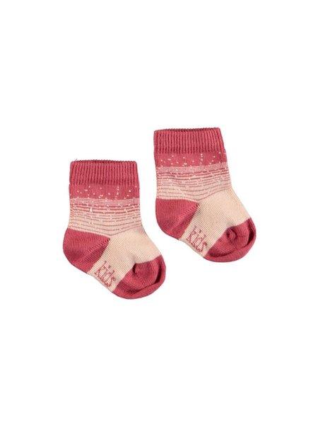 Kidscase NB organic winter socks rose