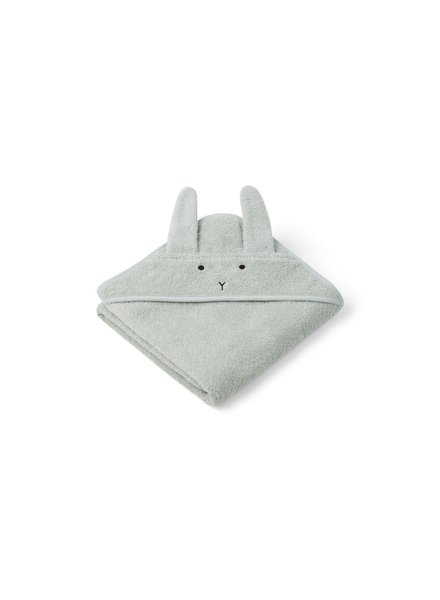 Liewood Albert Hooded Towel - Rabbit Dusty Mint