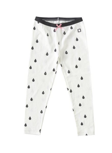 Little Label Legging - Droplet Off White