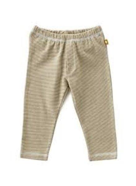 Little Label Basic Pants - Fine Caramel Stripes - Maat 80