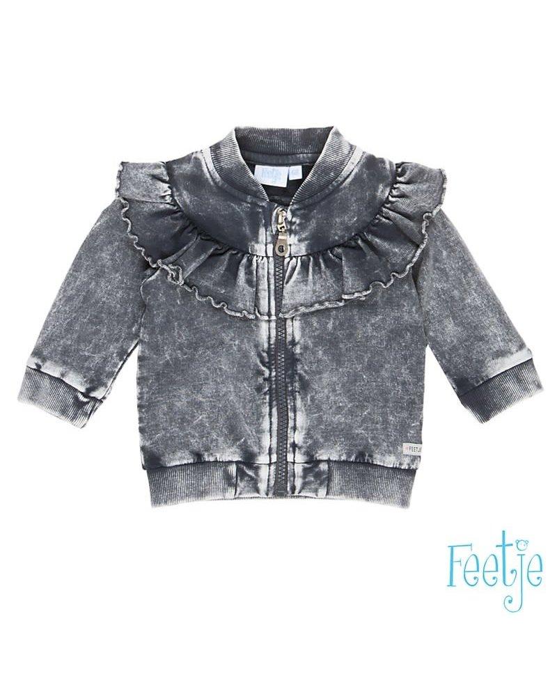 Feetje Vest With Love - Antraciet - Maat 80