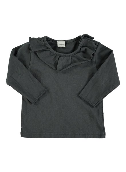 Beans Tuixent - Organic Cotton Shirt - Anthracite - Maat 62