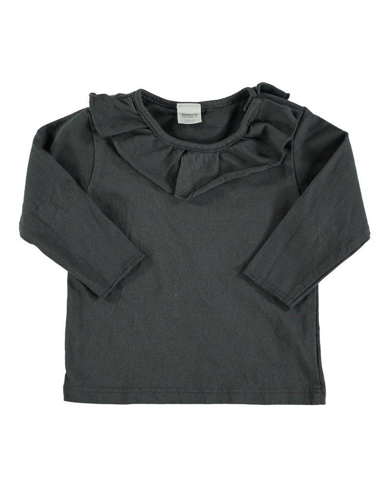Beans Tuixent - Organic Cotton Shirt - Anthracite - Maat 62