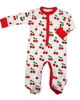 Baba Babywear Footed Bodysuit Cherry - Maat 62