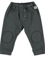 Beans Idre - Melange Cotton Pants With Knee Pads - Anthracite - Maat 62