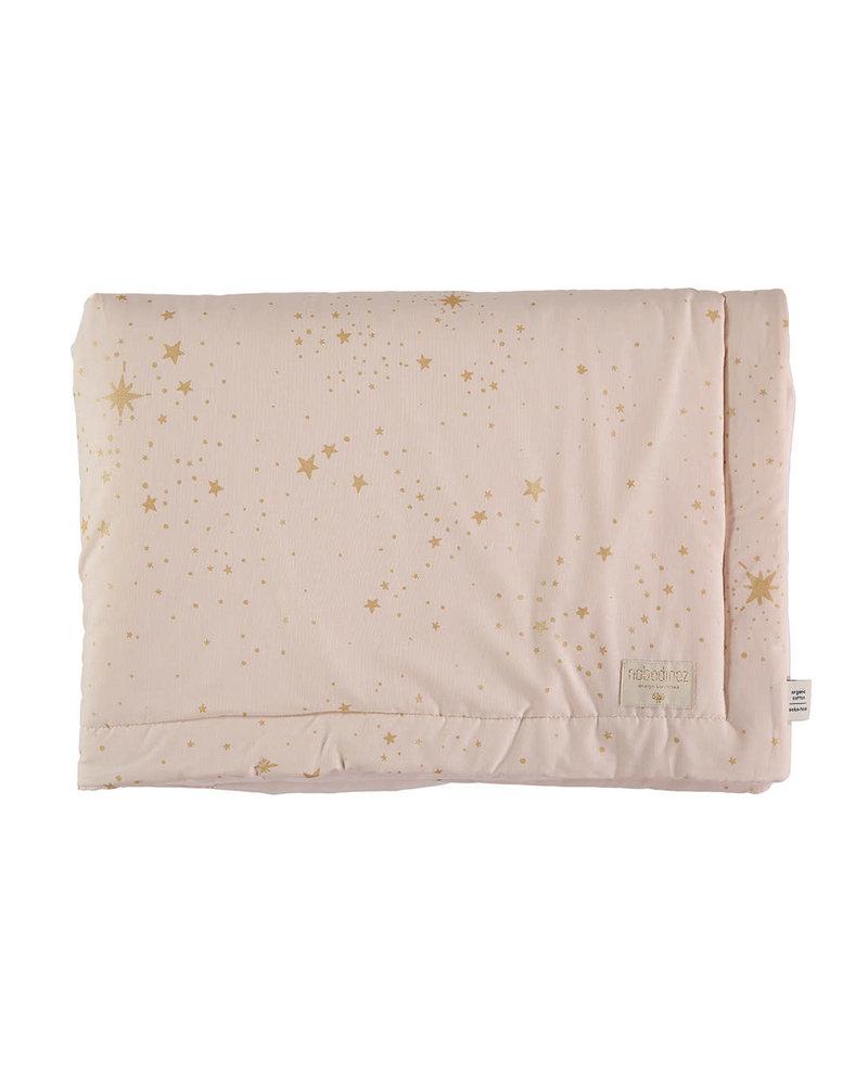 Nobodinoz Laponia blanket gold stella/ dream pink - Mini