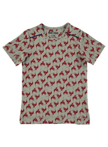 Kik Kid T-Shirt Bird Print Jersey - Maat 92