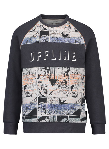 Noppies Sweater ls Talay AOP - Charcoal