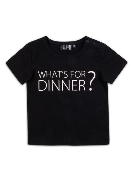 CarlijnQ T-shirt What's For Dinner - Maat 110/116