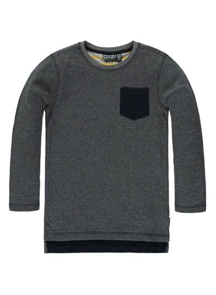 Tumble n Dry T-shirt Lm O-hals Bartin - Grijze Strepen