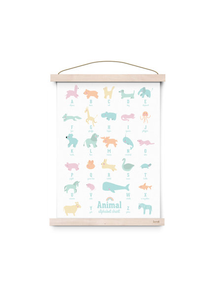 Eef Lillemor Poster animal alphabet