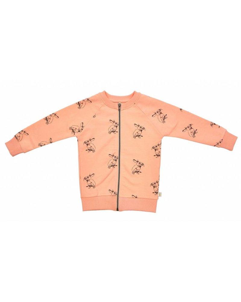 Cardigan - Peach Bunny Zipped - Maat 166/122