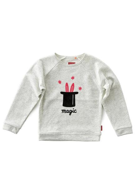 Tapete Girls Basic Sweater - Off White Melange-Magic