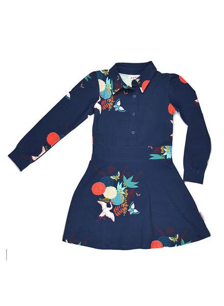 Baba Babywear Shirt Dress - Crane Birds