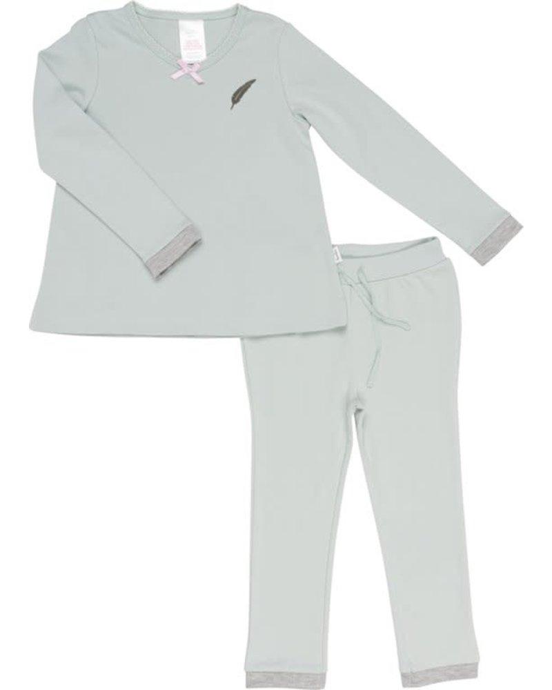 Koeka Pyjama Feather Mint - Maat 110/116