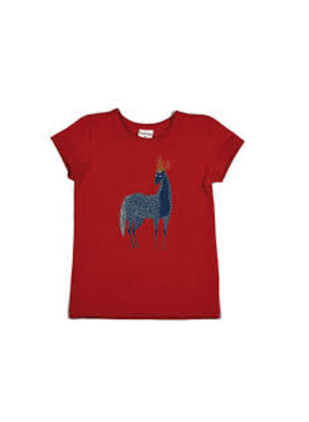 Baba Babywear T-shirt Horse Red - Maat 68