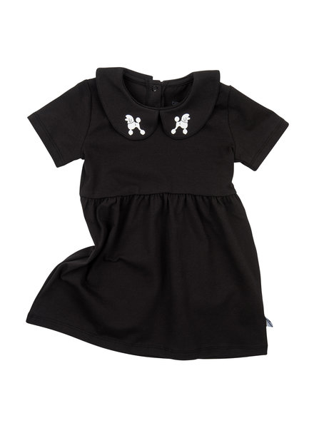 CarlijnQ Dress Poodles Black Collar - Maat 74/80