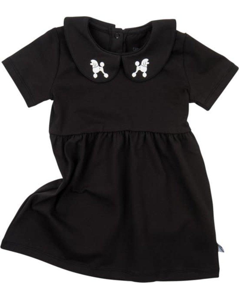 CarlijnQ Dress Poodles Black Collar - Maat 74/80