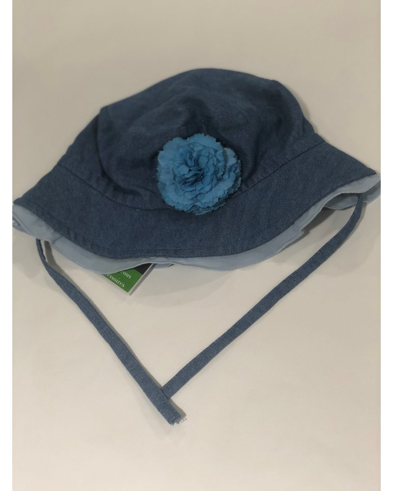 Jeanshoedje bloem - Maat 6J