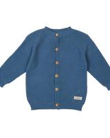 Koeka Vest Barley Stormy Blue - Maat 62/68
