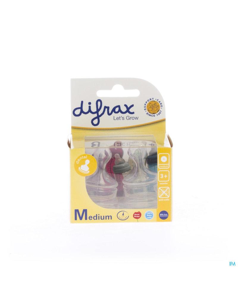 Difrax Soft Speen Plat M 2 st