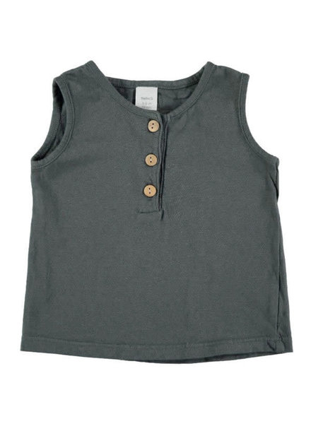 Beans Roses - Tank T-shirt - Anthracite 0/1M