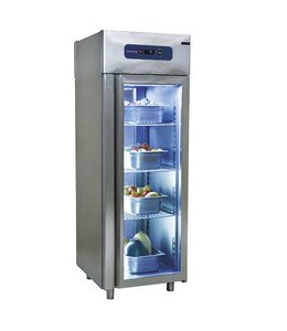 Mastro Kühlschrank 700 Liter / Standard / aus Edelstahl mit Glastür -2°/+8°C, Umluft