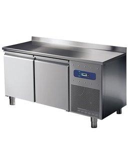 Mastro Tiefkühltisch 1400x600 / 2 Türen mit Aufkantung, -10°/-20°C